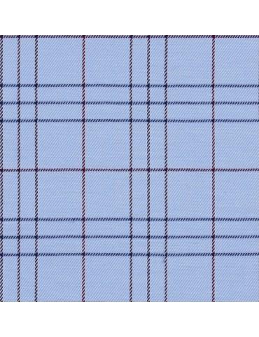 Sky Blue Window Pane Checkered Shirt