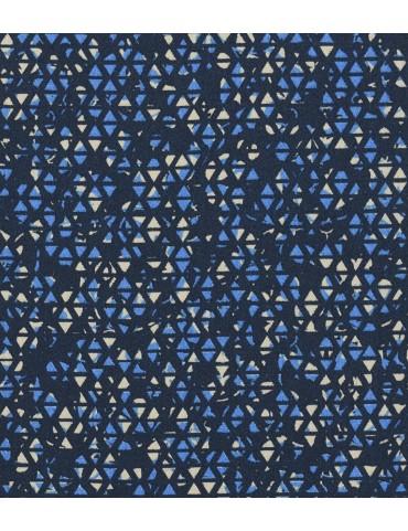 Blue Mosiac Print Rolled-Up Sleeves Shirt