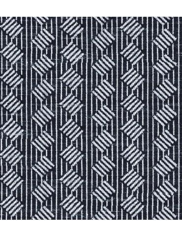 Black Self Design French Cuff Shirt