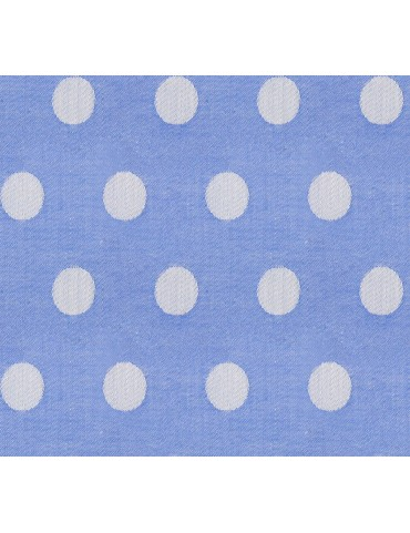 Blue Polka Dot Print Shirt