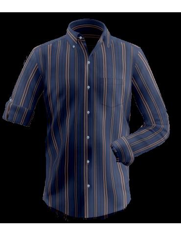Blue Road Stripes Shirt