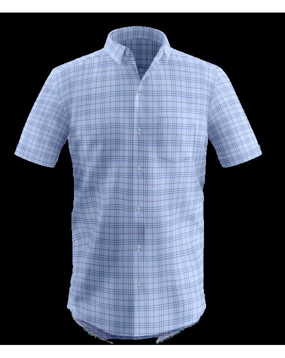 Sky Blue Window Pane Checks Shirt