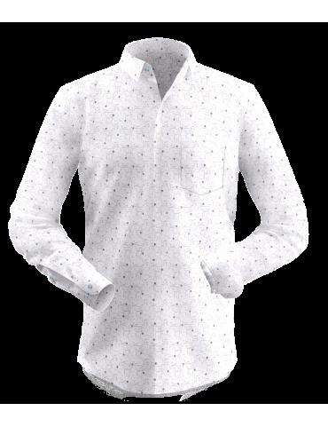 Cream Small Print Shirt