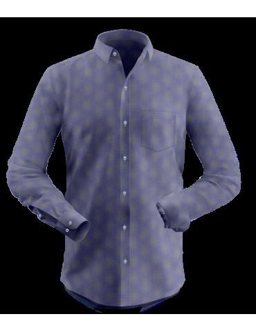 Blue Spot Print Shirt