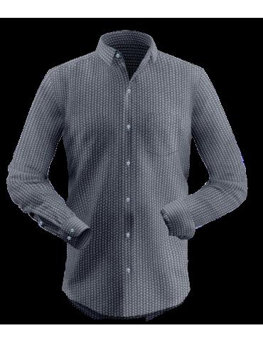 Black Self Design Shirt