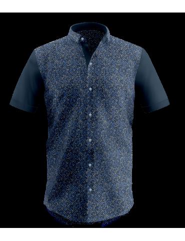 Blue Mosaic Print Shirt