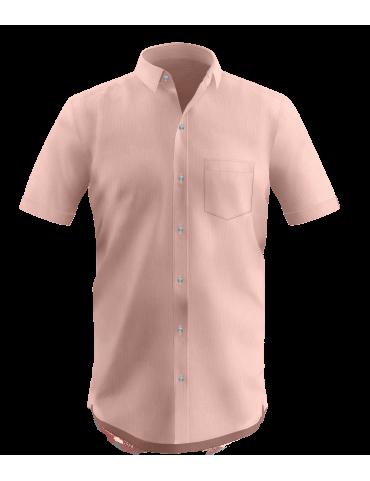 Peach Dobby Shirt