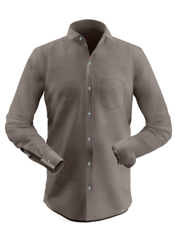 Brown Solid Shirt