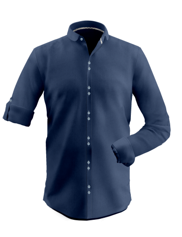 Navy Blue Dobby Shirt