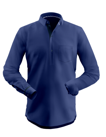 Midnight Blue Shirt Kurta
