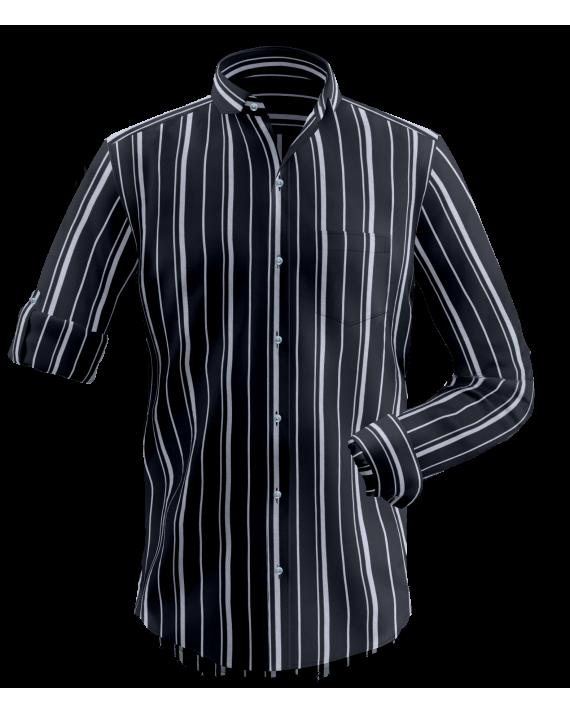 Black Grey Striped Shirt