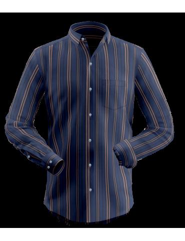 Blue Road Striped Shirt