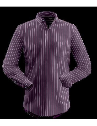 Dark Maroon Striped Shirt