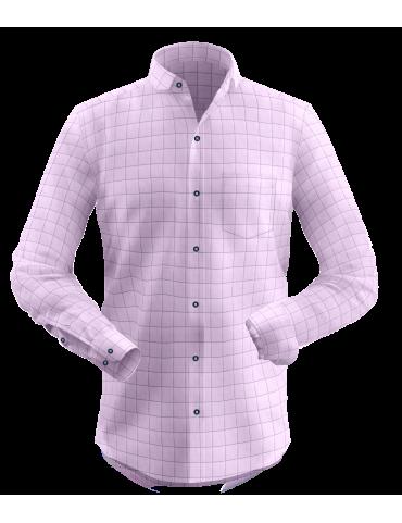 Light Pink Window Pane Checkered Shirt
