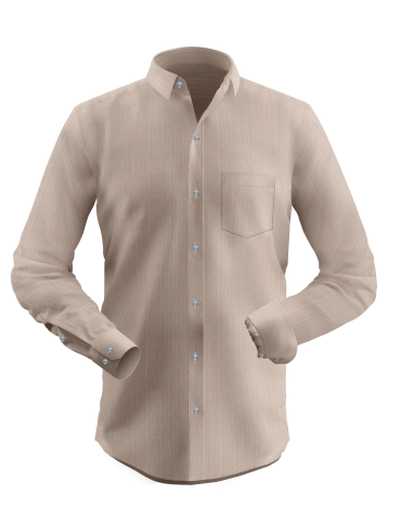 Bisque Brown Dobby Shirt
