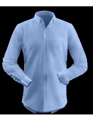 Light Steel Blue French Cuffs Shirt