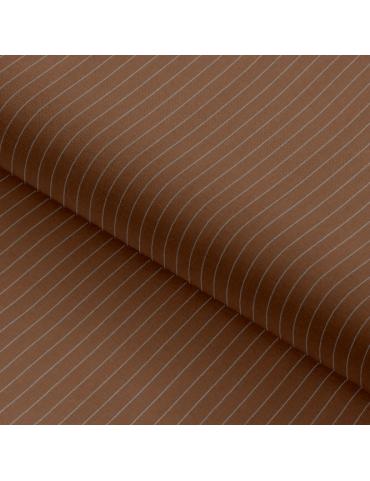 Saddle Brown Thin Stripes
