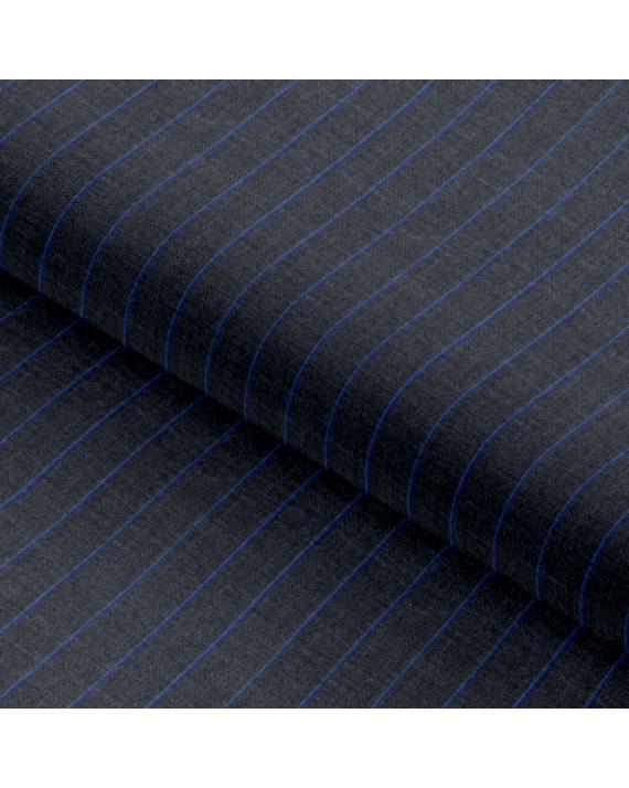 Dark Grey Blue Ombre Stripes